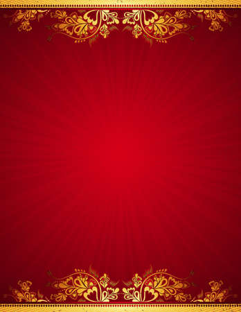 red antique background, vector illustration Vector