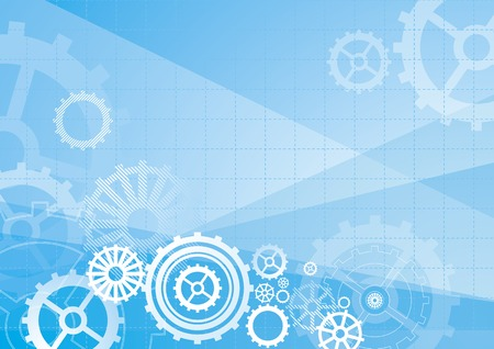 industry pattern: blue background with decorative elements
