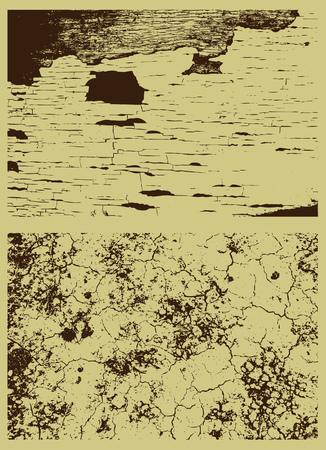 famine: brown background, vector illustration