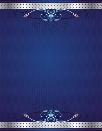 blue antique background, vector illustration