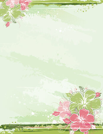 hawai: ramo de hibisco sobre fondo beige