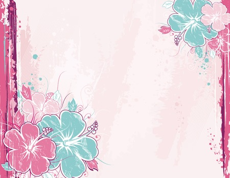bouquet of hibiscus on pink background