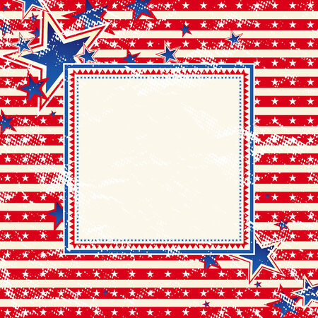 patriotic border: EE.UU. cuadrados de fondo con la textura, la ilustraci�n vectorial