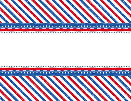 patriotic border: usa  background with texture, vector illustration