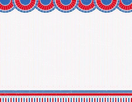 patriotic border: usa de fondo con textura, ilustraci�n vectorial
