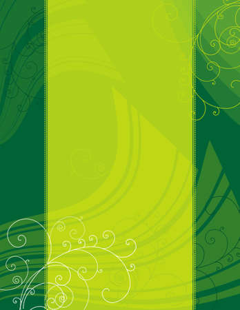 squiggle: green modern background with decorative lines ans squiggle, vector illustration Illustration