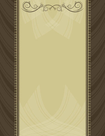 stylization: brown antique background, vector illustration