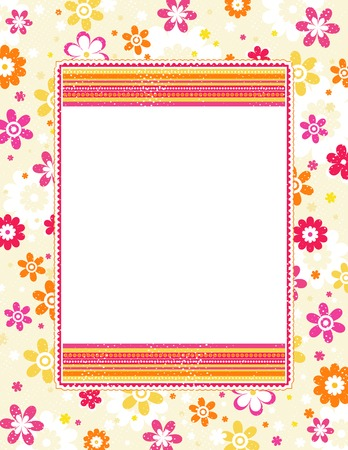 color background with decorative flowers, vector illustration Vector