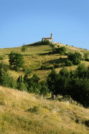 landscape with chapel photo