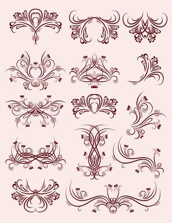 decorative  ornaments for design, vector Vector