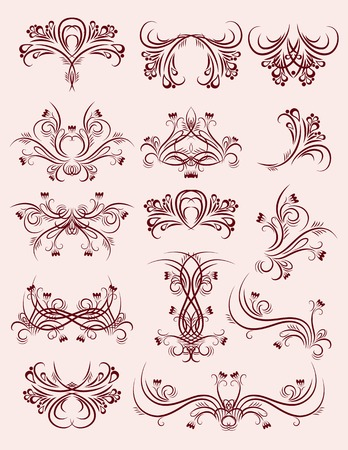 decorative  ornaments for design, vector Stock Vector - 3386734