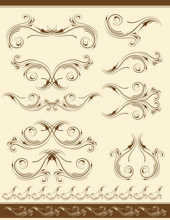 stylization: decorative frame and ornaments for design, vector Illustration
