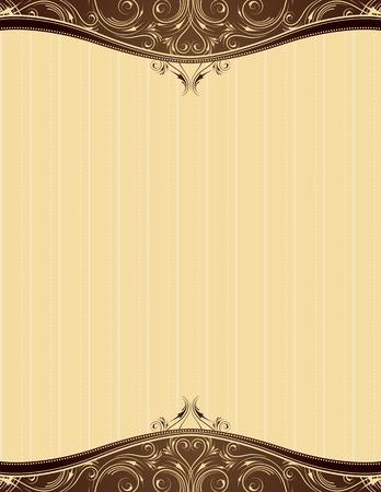 ornaments vector: sfondo giallo con oggetti di ornamento decorativo, illustrazione vettoriale