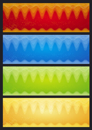 color banners with abstract forms, vector illustration Vector