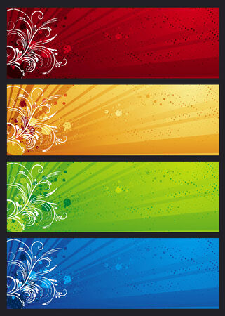 modern  banners with floral ornament, vector illustration Vector