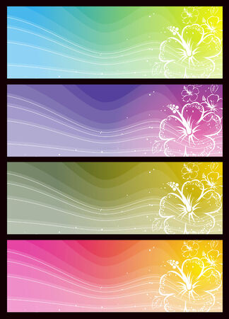 modern  banners with floral ornament, vector illustration Stock Vector - 3408113