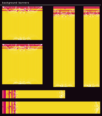yellow modern  banners, vector  Vector