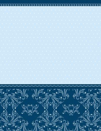 ornaments vector: sfondo blu, con ornamenti decorativo, illustrazione vettoriale  Vettoriali