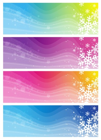 modern  banners with snowflakes, vector illustration Vector
