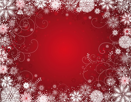 year curve: red  christmas background, vector illustration