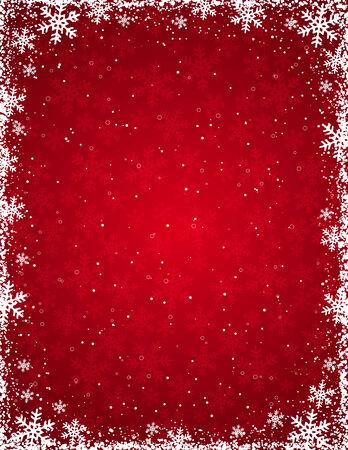 red grunge christmas background, vector illustration Illustration