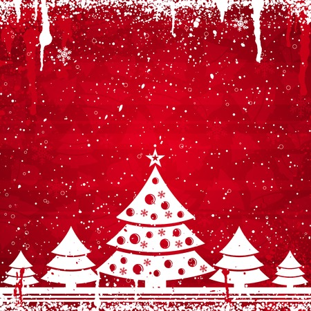 red christmas card, vector illustration Stock Vector - 3637505
