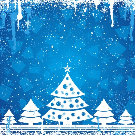 blue christmas card, vector illustration Vector