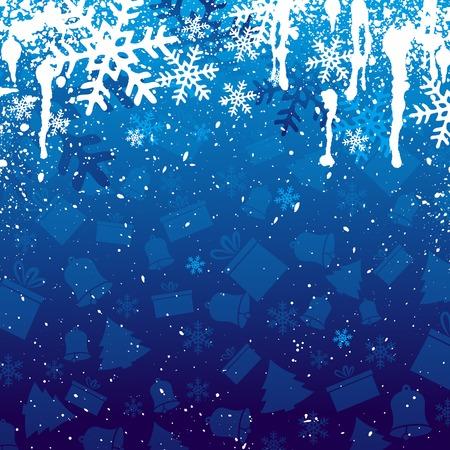 bell curve: blue christmas background, vector illustration