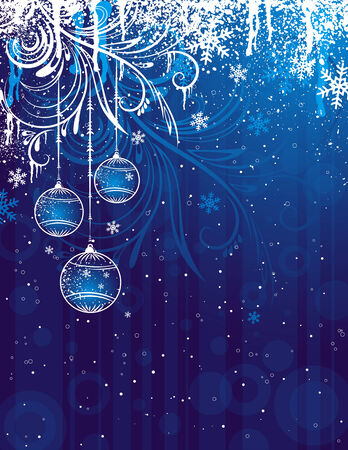 blue christmas background, vector illustration Stock Vector - 3654153