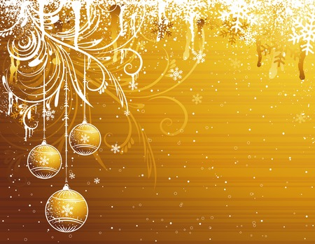 golden christmas background, vector illustration Vector