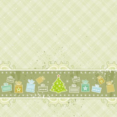 beige christmas background, vector illustration Stock Vector - 3671043