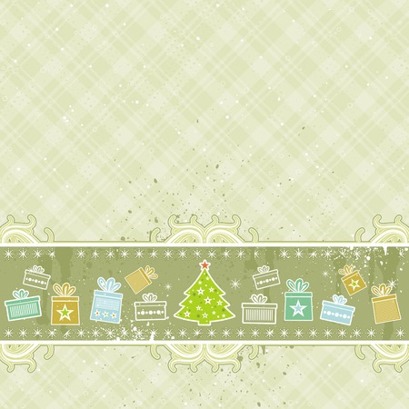 beige christmas background, vector illustration Stock Vector - 3671043