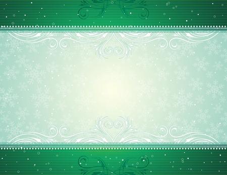 green  christmas background, vector illustration Stock Vector - 3682006