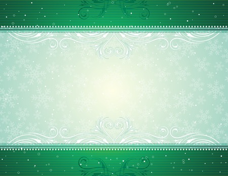 green  christmas background, vector illustration Stock Vector - 3682006