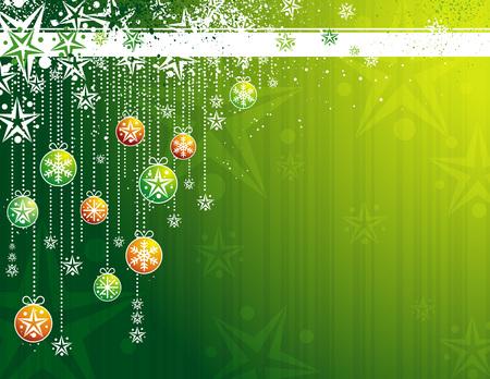 green card with christmas balls, vector illustration Stock Vector - 3685928