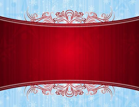 ornaments vector: fondo rosso con ornamenti decorativi, illustrazione vettoriale
