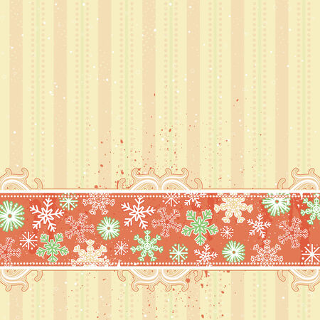 stylization: beige christmas background, vector illustration