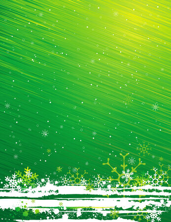 nature green: green grunge christmas background, vector illustration Illustration