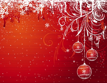 red christmas background, vector illustration Stock Vector - 3706047