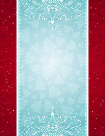 blue  christmas background, vector illustration Stock Vector - 3734052