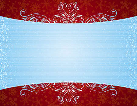 blue background with decorative ornaments, vector illustration Vector