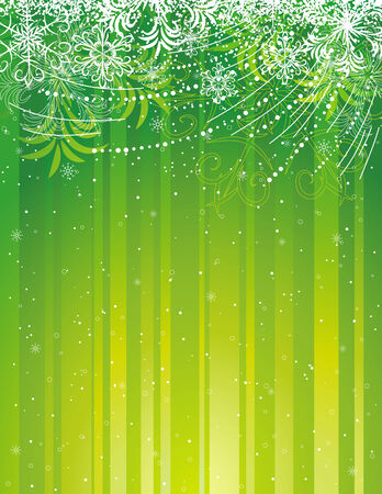 green grunge christmas background, vector illustration Vector
