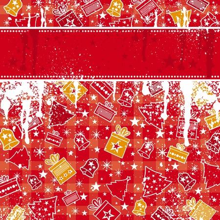 bell curve: red christmas background, vector illustration Illustration