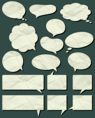 scrunch: sixteen crumple  labels , vector illustration Illustration