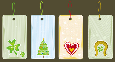 color labels for holidays, vector illustration Vector