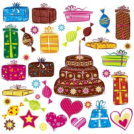 designe: designe elements for holiday, valentines day and birthday, vector Illustration