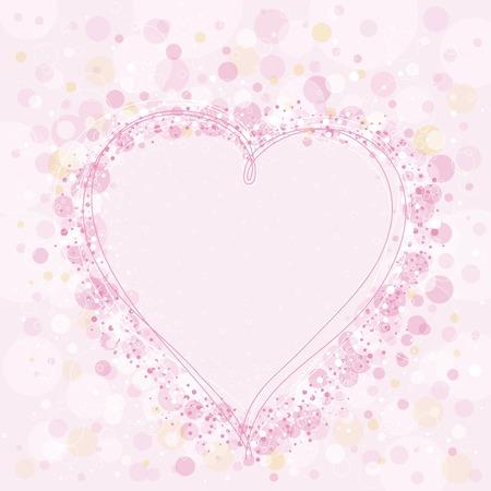 corazon rosa: rosa adorable coraz�n, ilustraci�n vectorial Vectores