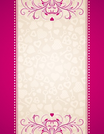 pink hearts: pink background with hearts, vector illustration