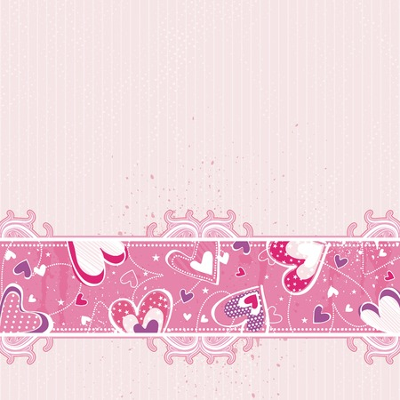 pink valentines  background, vector illustration Stock Vector - 4206493