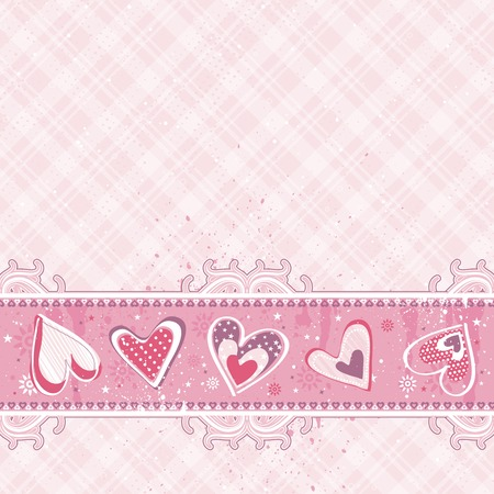 pink valentines  background, vector illustration Stock Vector - 4206494